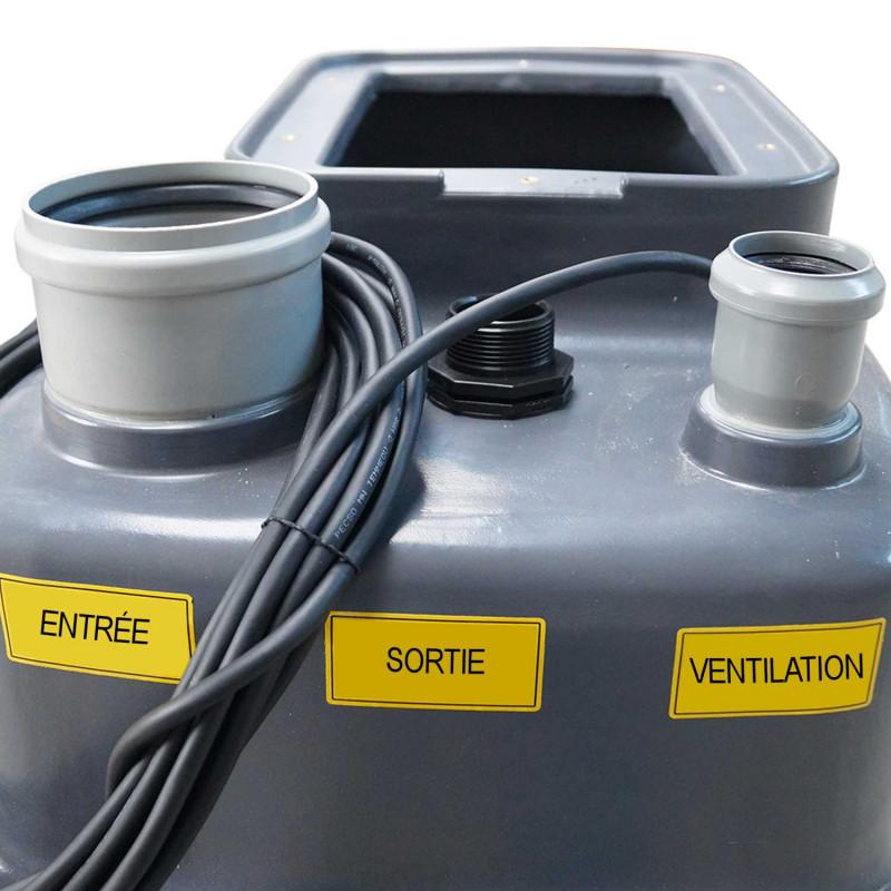 Station de relevage 100L - Pompe Inox 220V - Eaux chargées