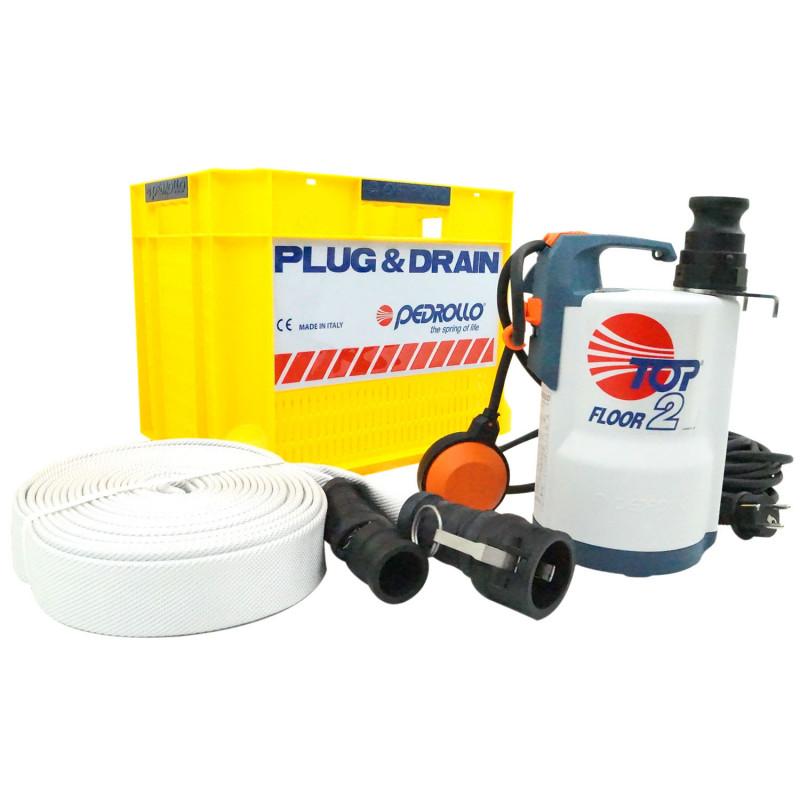 Kit d'intervention d'urgence anti-inondation Pedrollo Plug & Drain