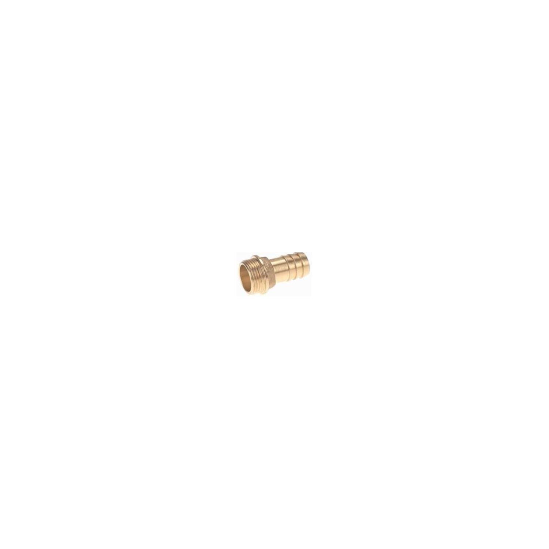 Raccord laiton cannelé embout mâle 3', cannelure Ø80