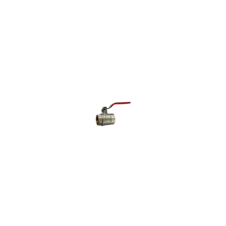 "Vanne BS F-F Laiton Levier Plat Rouge 2""1/2"