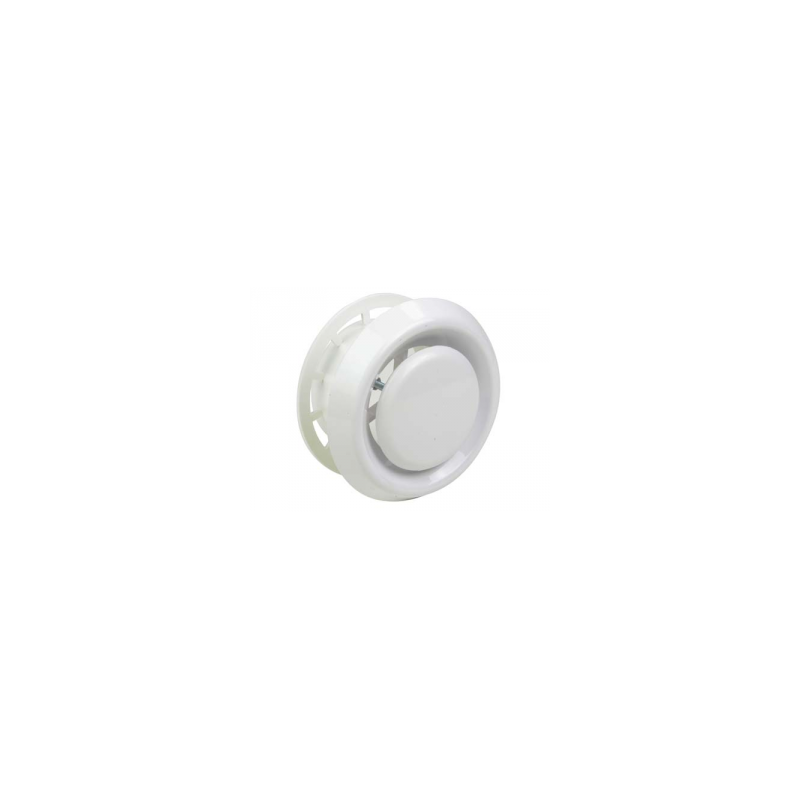 Bouche d'aération réglable pour gaine AluG Ø125