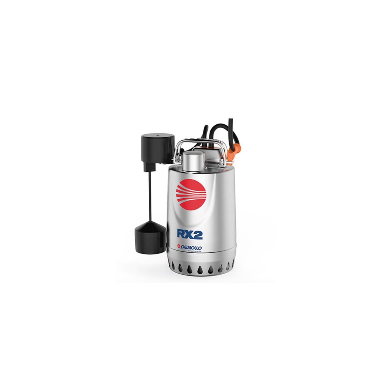 Pompe de relevage eaux pluviales inox 0.25Kw 150L/min avec flotteur vert.