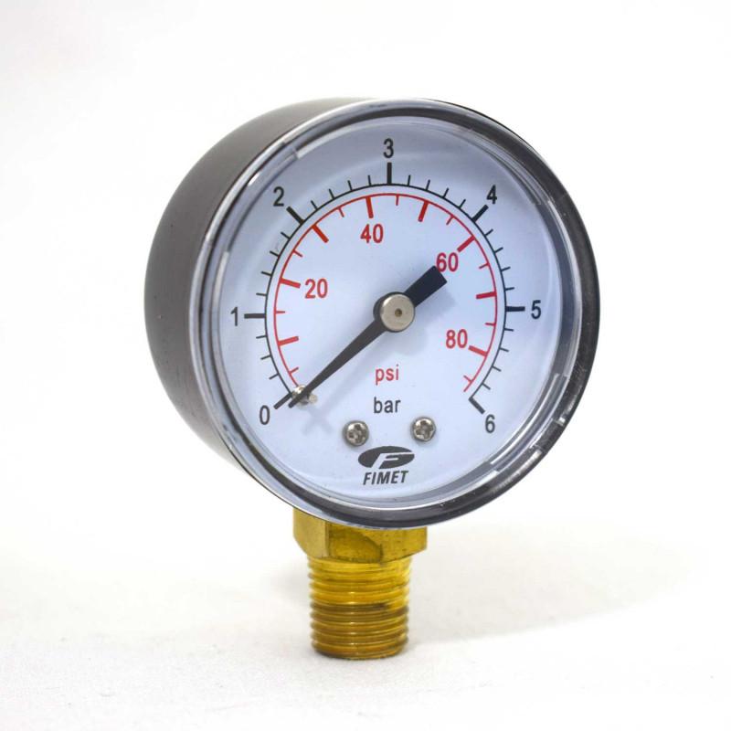 "Manomètre sec Radial 0 - 6 bars 1/4"" GAS"