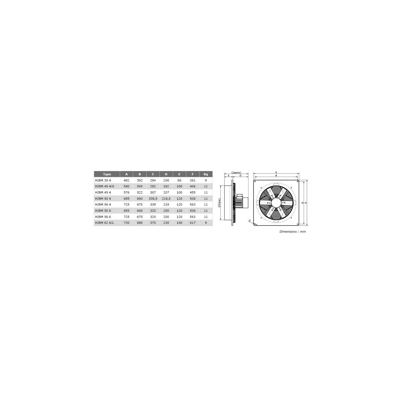Ventilateur axial, platine polyamide  506M18